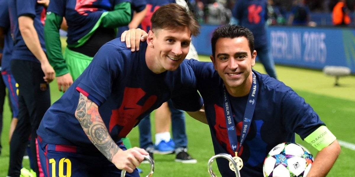 La emotiva despedida de Messi a Xavi Hernández