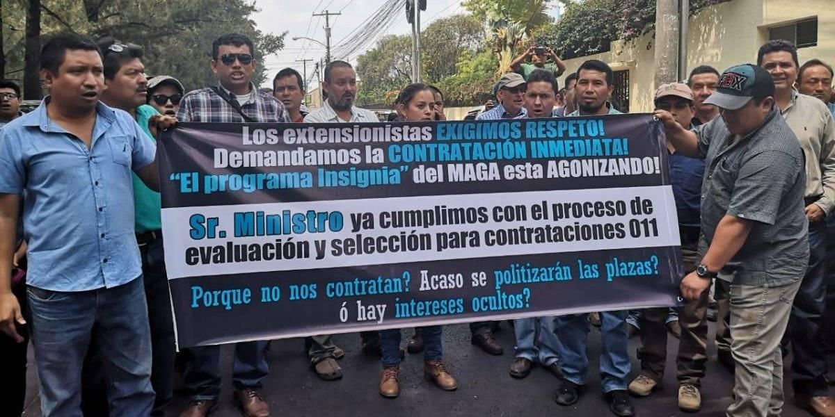 Extensionistas del MAGA exigen su traslado a plazas permanentes
