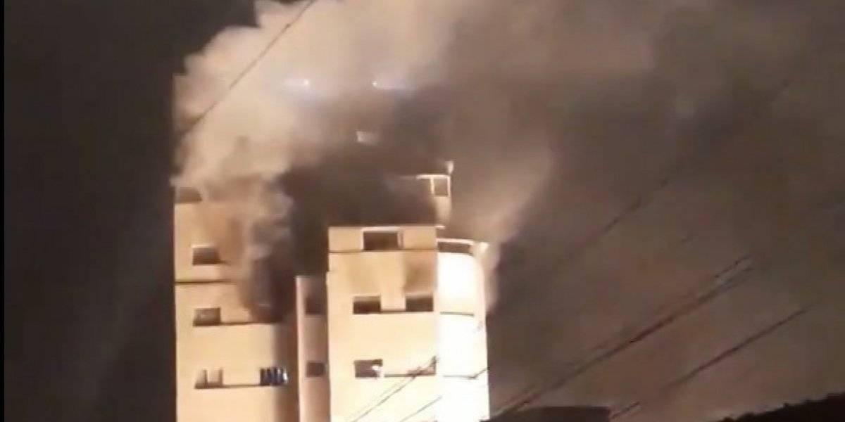 Vazamento de gás causa incêndio em prédio na Sé e deixa homem ferido