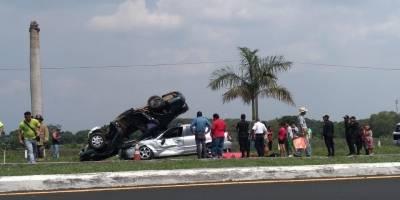 Accidente de tránsito en la autopista Palín-Escuintla.