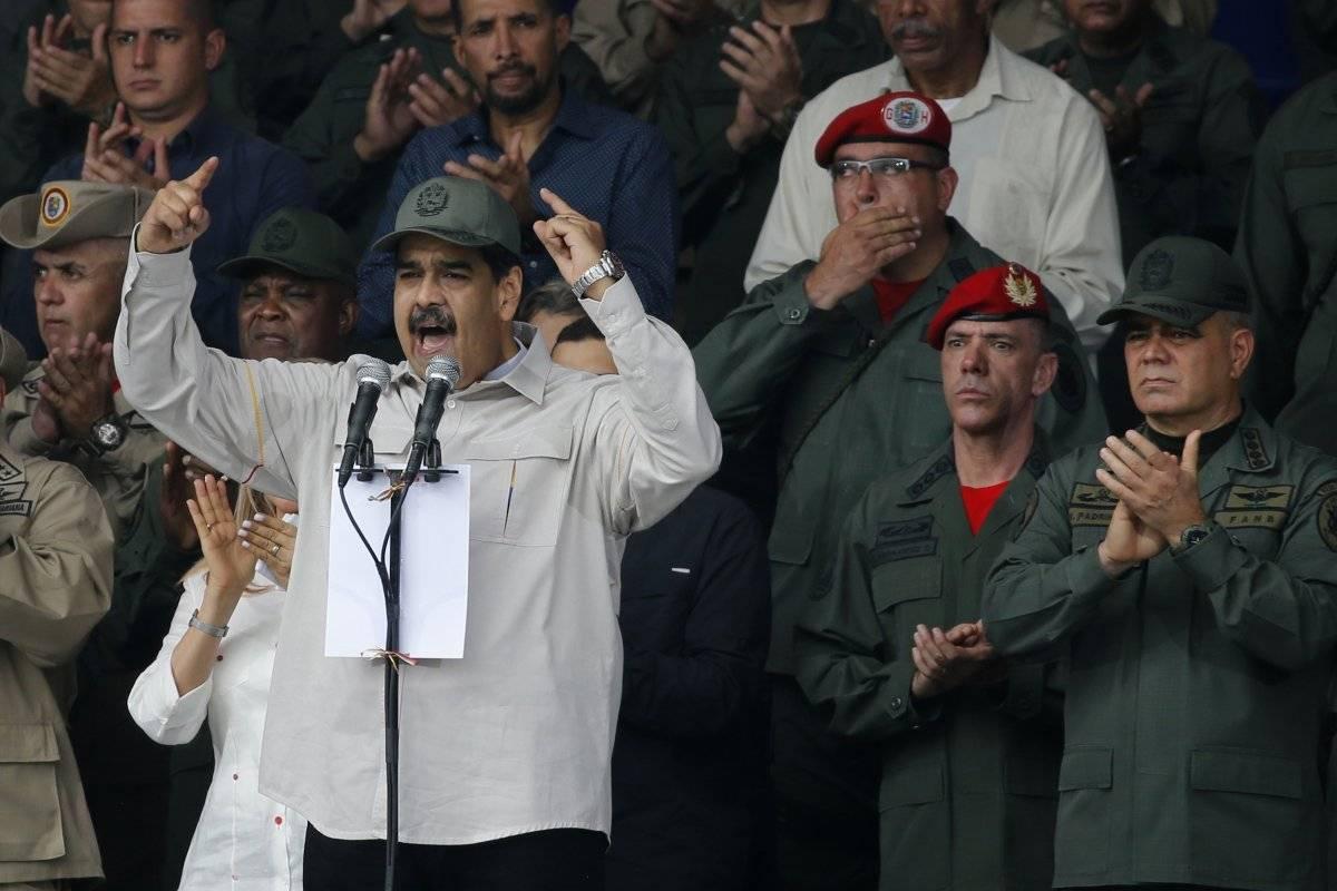 Maduro en un acto con las Fuerzas Armadas