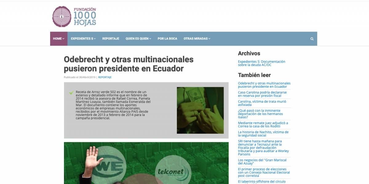 Arroz verde 502: Fiscalía se pronuncia ante publicación de Fernando Villavicencio sobre Odebrecht y Alianza PAIS
