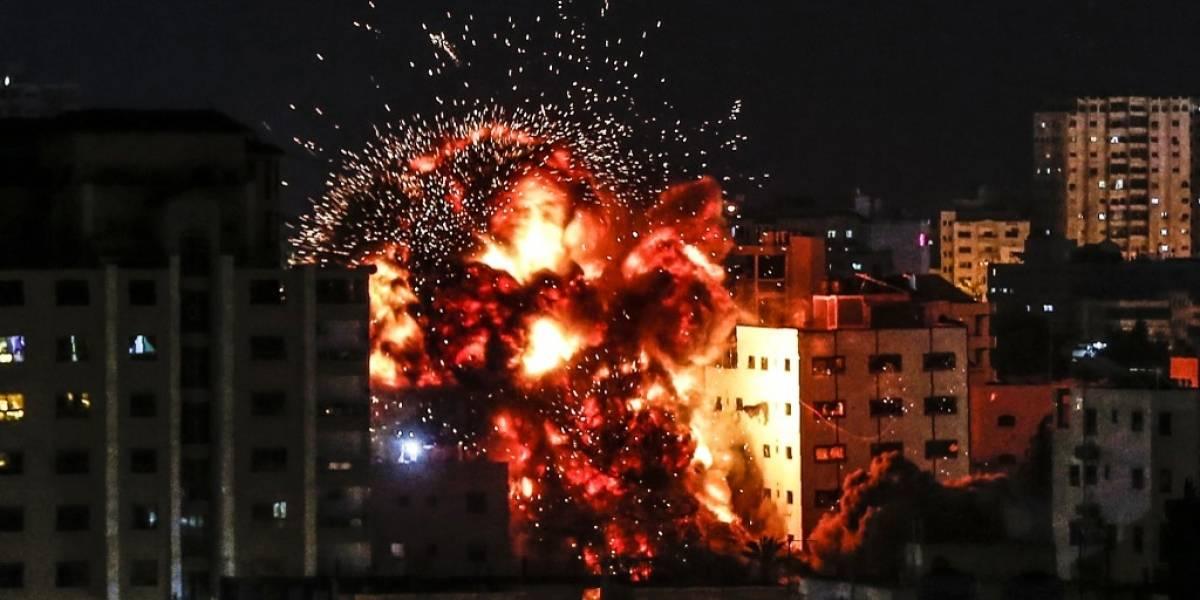 Cuatro palestinos muertos en respuesta israelí a ataques con cohetes desde Gaza