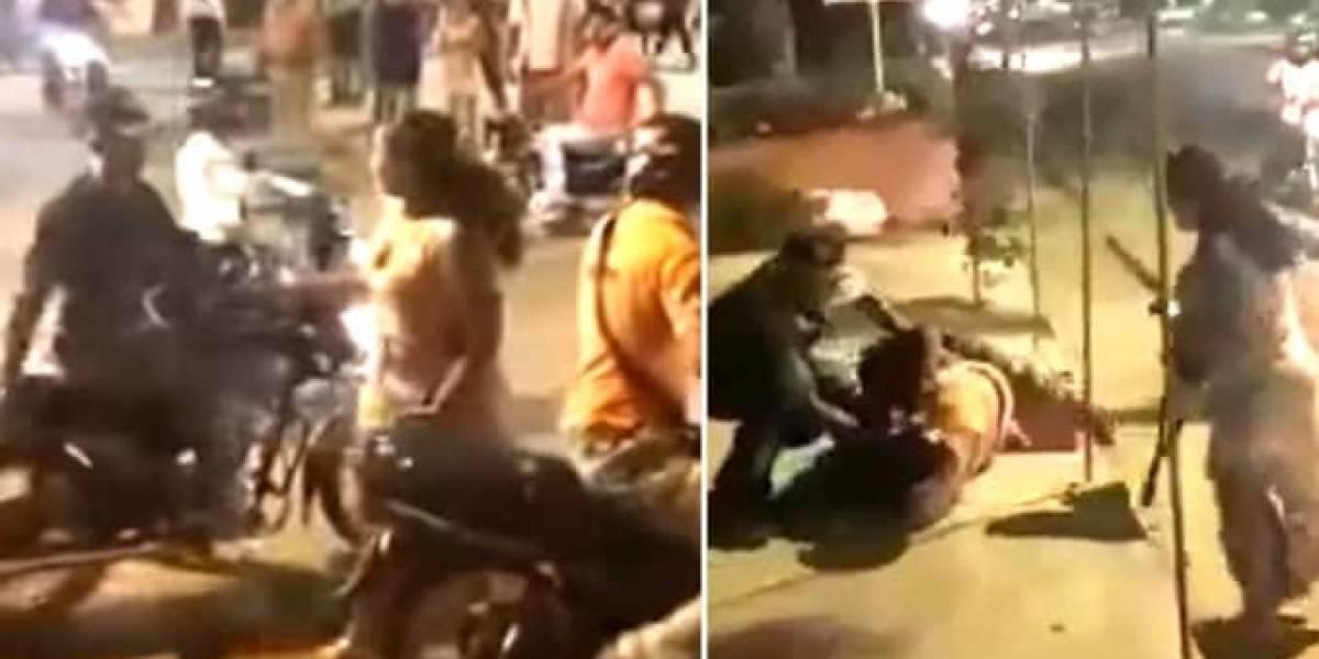 Video: mujer impuso su carácter en medio de pelea de mototaxista