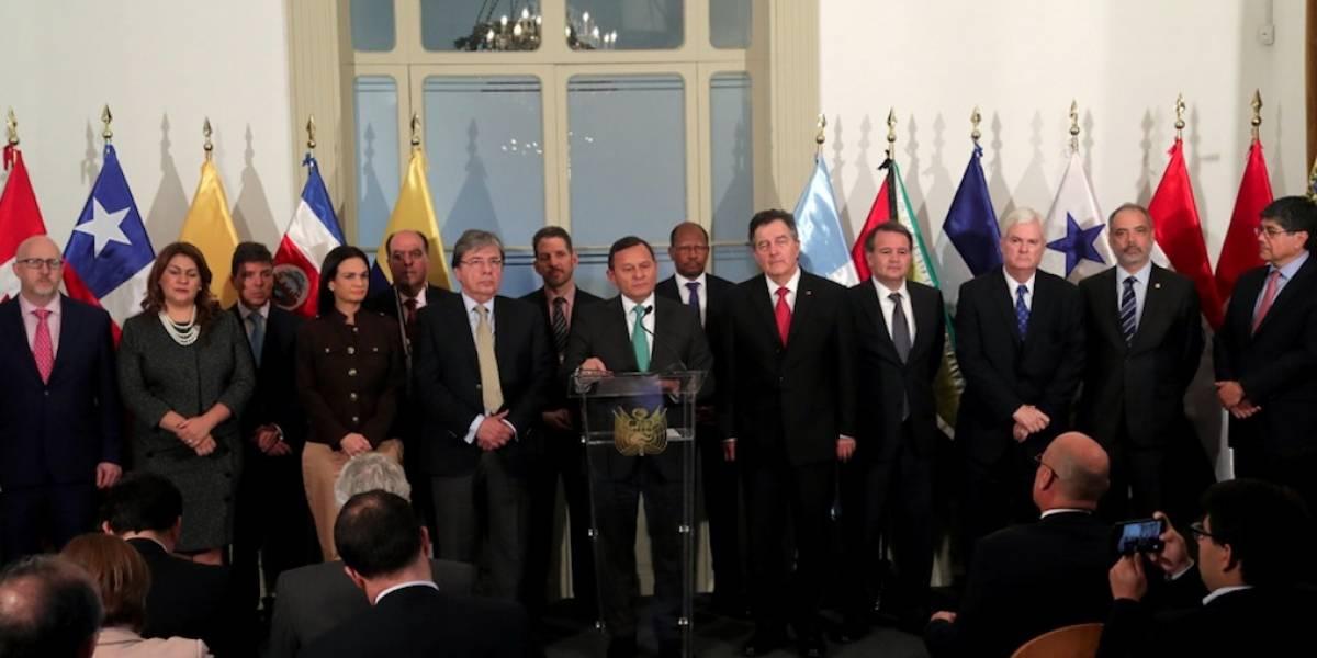 Grupo de Lima alienta al pueblo venezolano a seguir su lucha contra Maduro