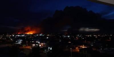 Fuego forestal en Levittown