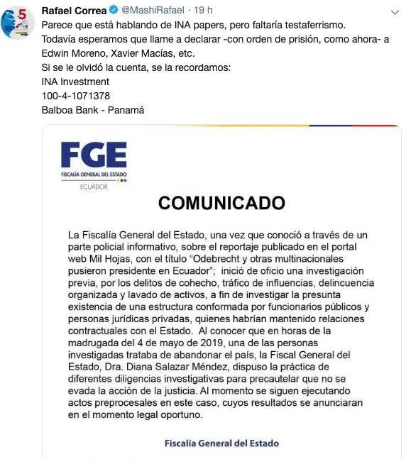 Tuit de Correa