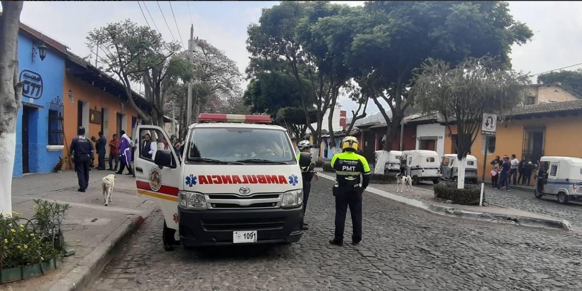 Policías resultan heridos en San Juan Alotenango, Sacatepéquez