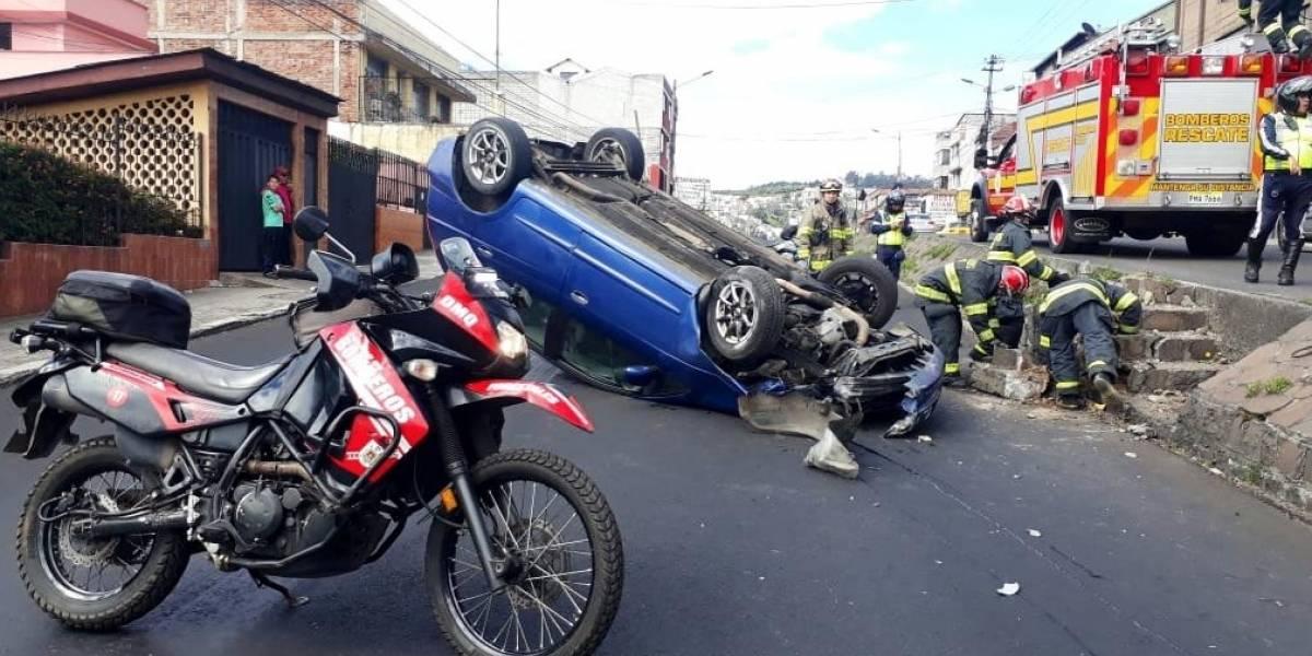 Quito: Una persona herida tras accidente de tránsito en el sector La Vicentina