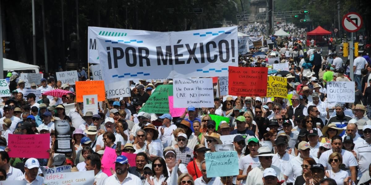 #MarchaDelSilencio: Protestan contra el gobierno de AMLO