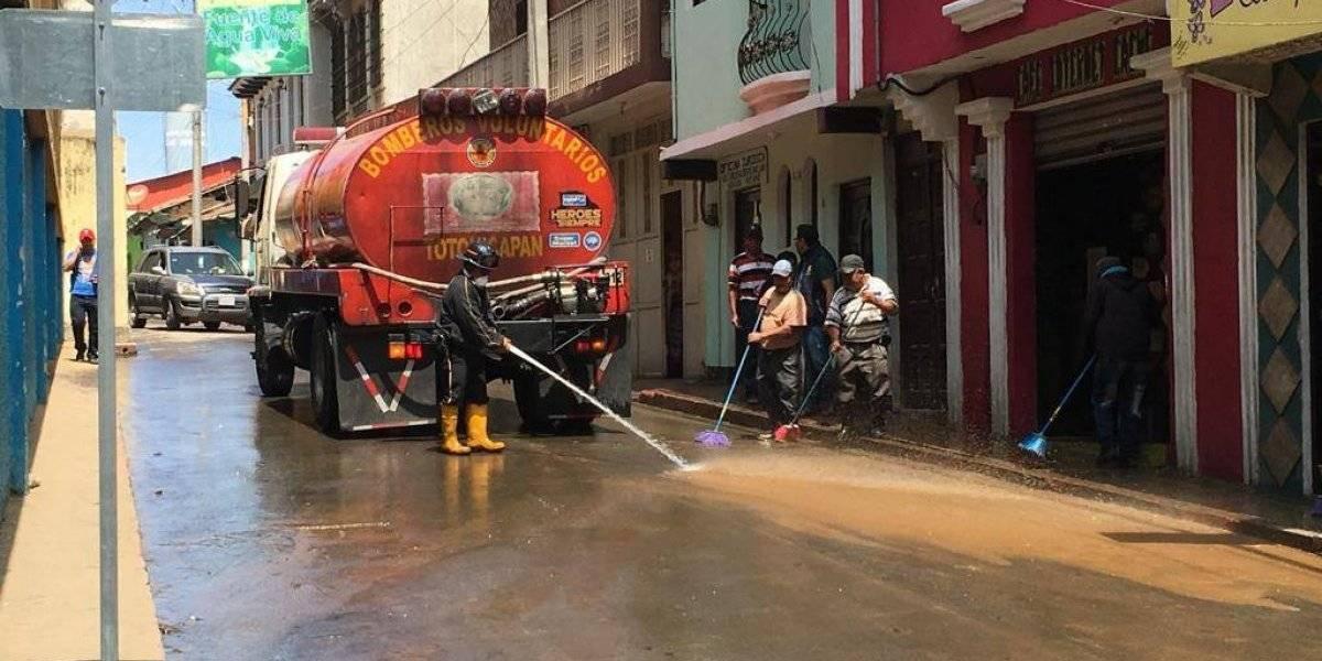 EN IMÁGENES: Tras la lluvia, el polvo se apodera de las calles de Totonicapán