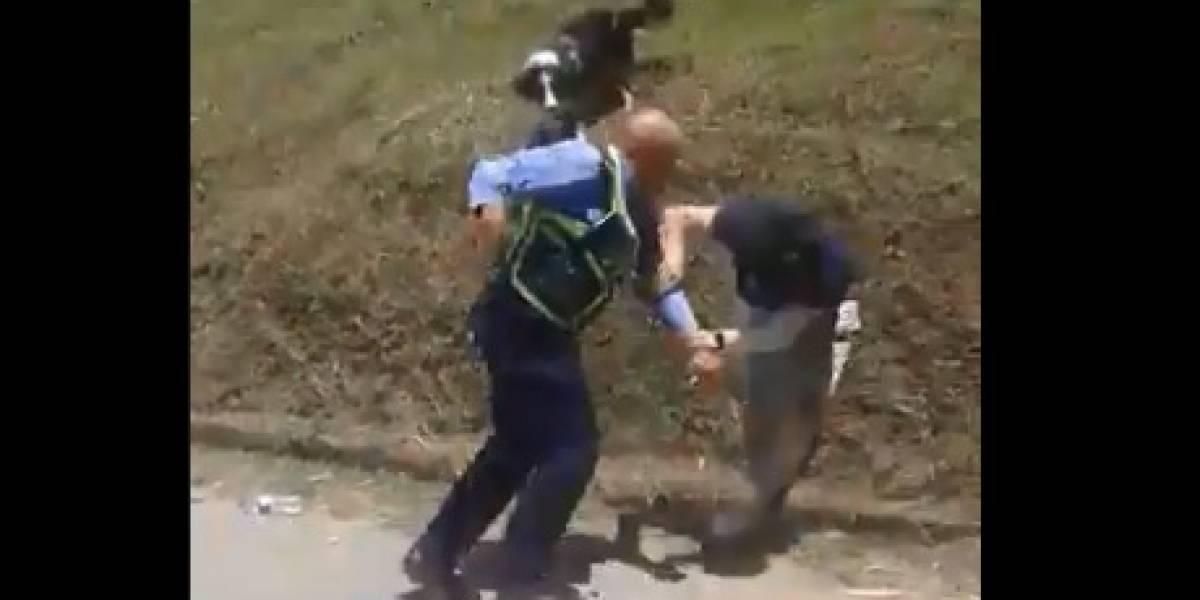 Brutal agresión con un hacha recibió un guarda de tránsito cuando detuvo a infractor