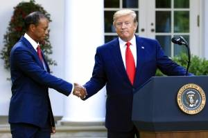 Tiger Woods-Donald Trump