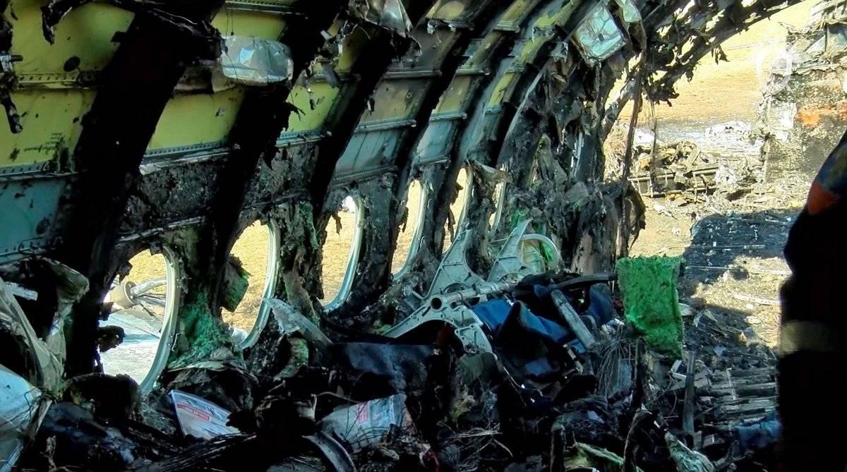 41 personas murieron en incendio de avión en Moscú EFE