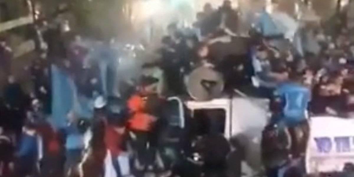 VIDEO: El festejo de un equipo argentino que casi termina en tragedia