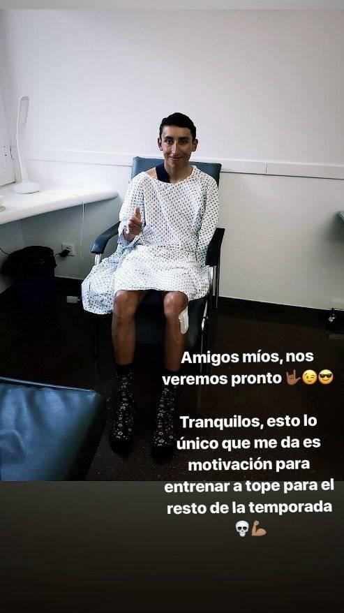 El emotivo mensaje de Egan Bernal tras su operación al romperse la clavícula y perderse el Giro