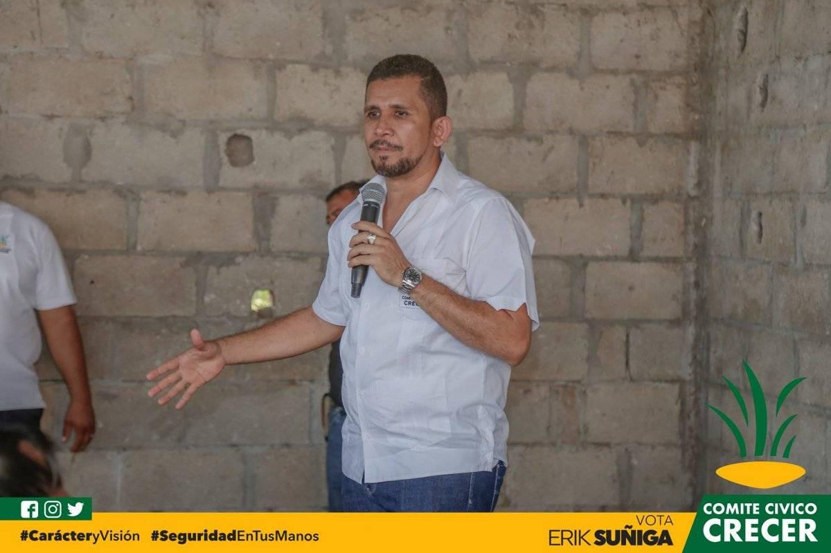 Erik Súñiga, alcalde Crecer