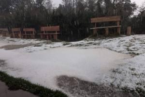 Caída de granizo en San Marcos