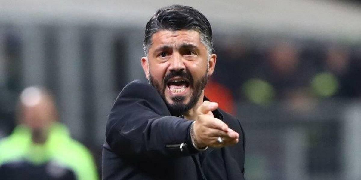 VIDEO: La acalorada discusión entre Gattuso y su jugador en pleno partido