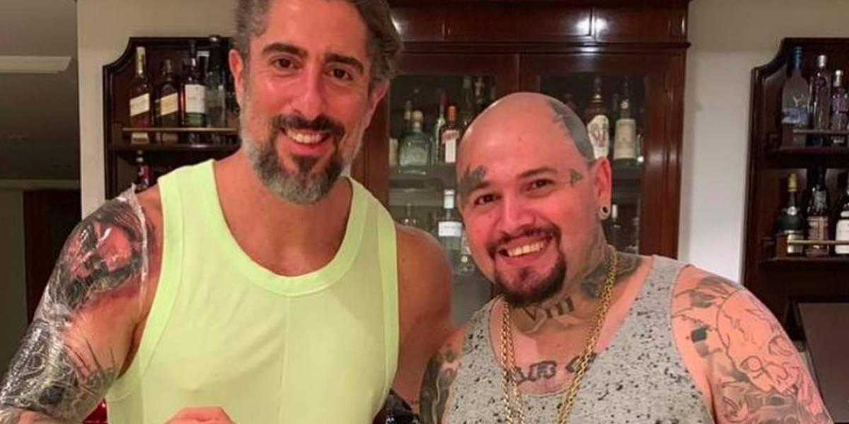 Marcos Mion mostra resultado de sessão de sete horas em tatuagem hiperrealista de Jesus