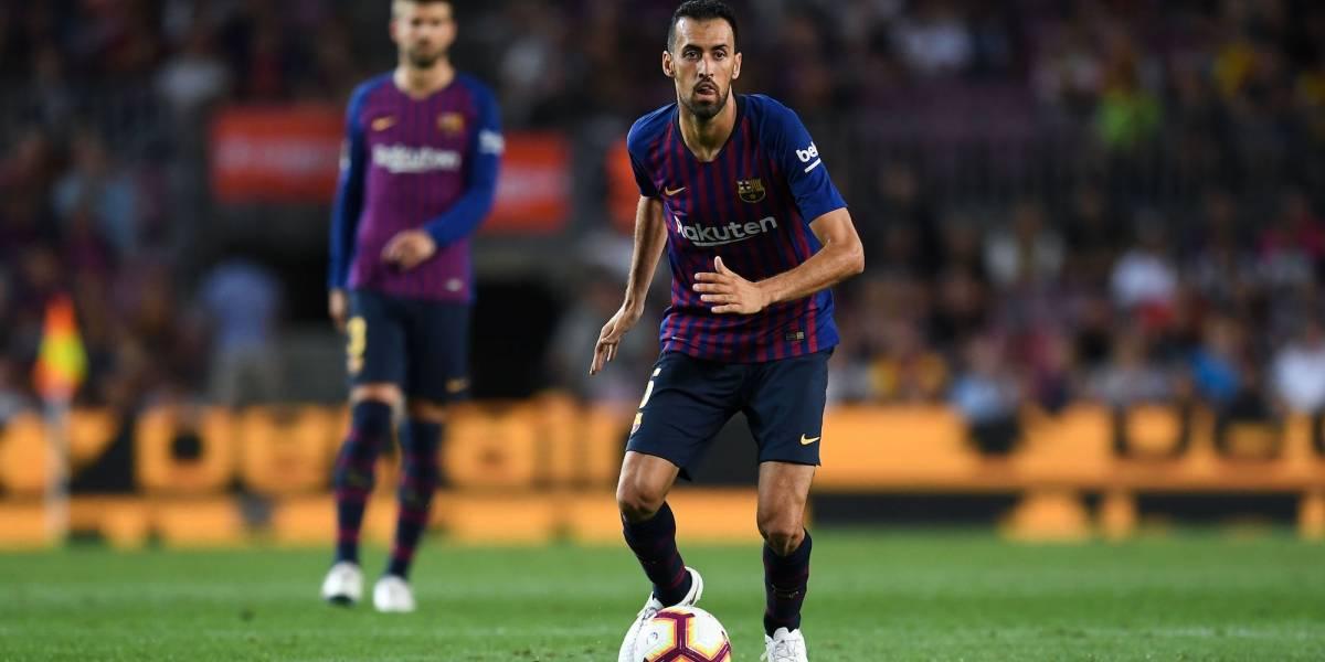 Busquets y Barcelona ofrecen disculpas a su afición
