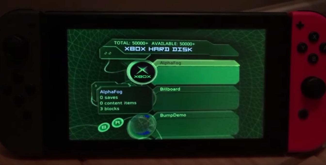 Un hacker ejecutó un emulador de la Xbox original en una Nintendo Switch
