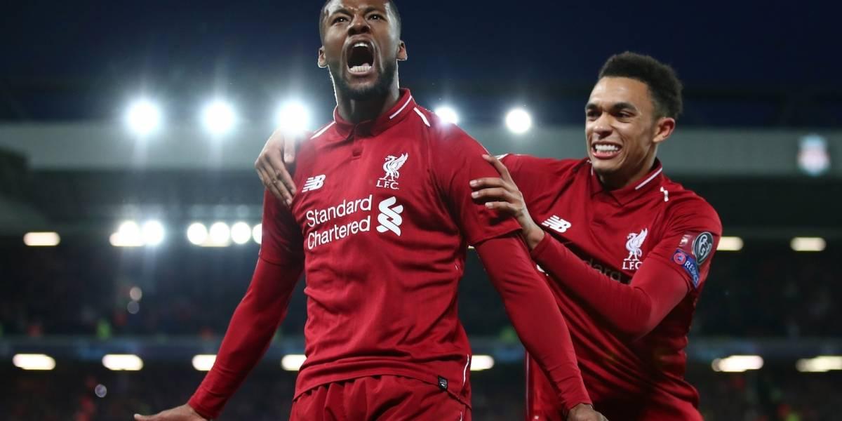¡Esto es Anfield! Wijnaldum marcó dos goles, igualó la serie y Liverpool sueña con la clasificación