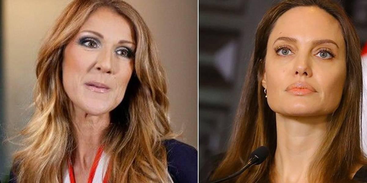Angelina Jolie se recusa a interpretar Celine Dion em filme e causa climão