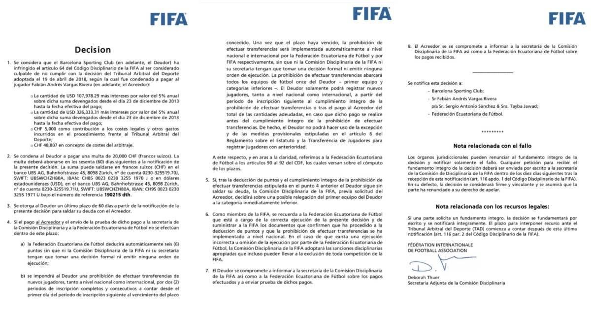 Fabian Vargas, Barcelona y Fifa
