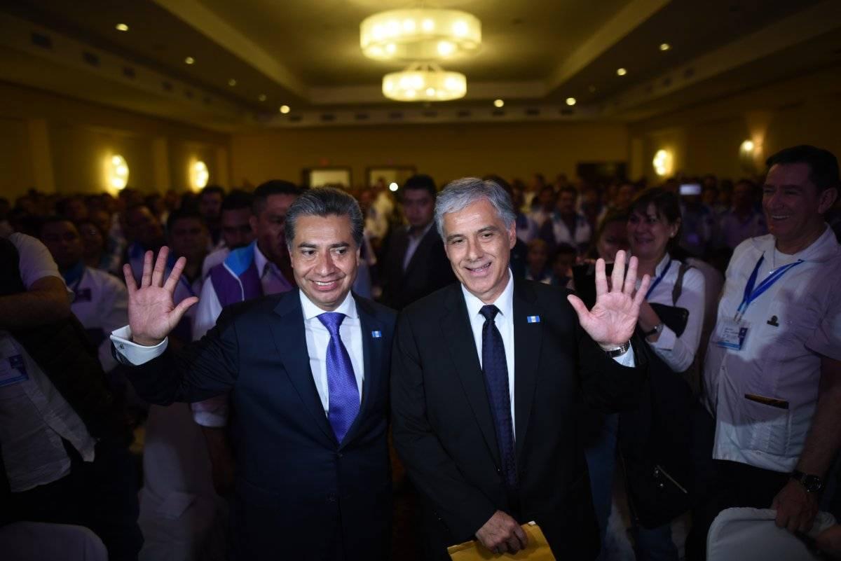 Fredy Cabrera y Ricardo Sagastume, partido Todos