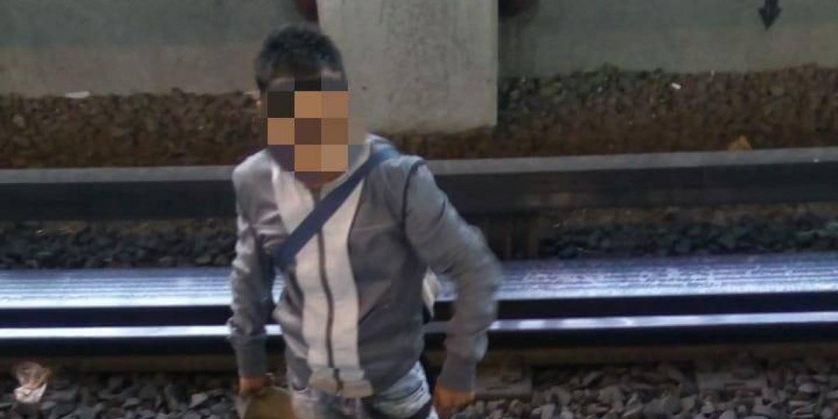 Intento de robo de celular en el Metro termina en rescate de asaltante