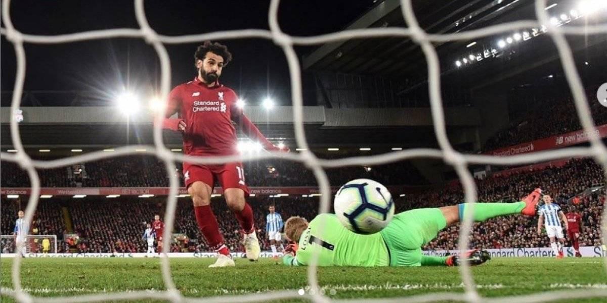 A pesar de no jugar, Salah se presentó en Anfield con un mensaje inspirador