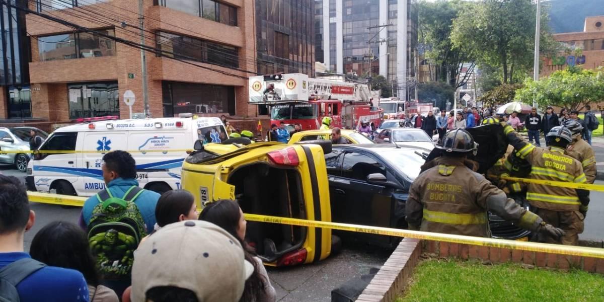 Dramático accidente en Unilago por imprudencia dejó cuatro heridos