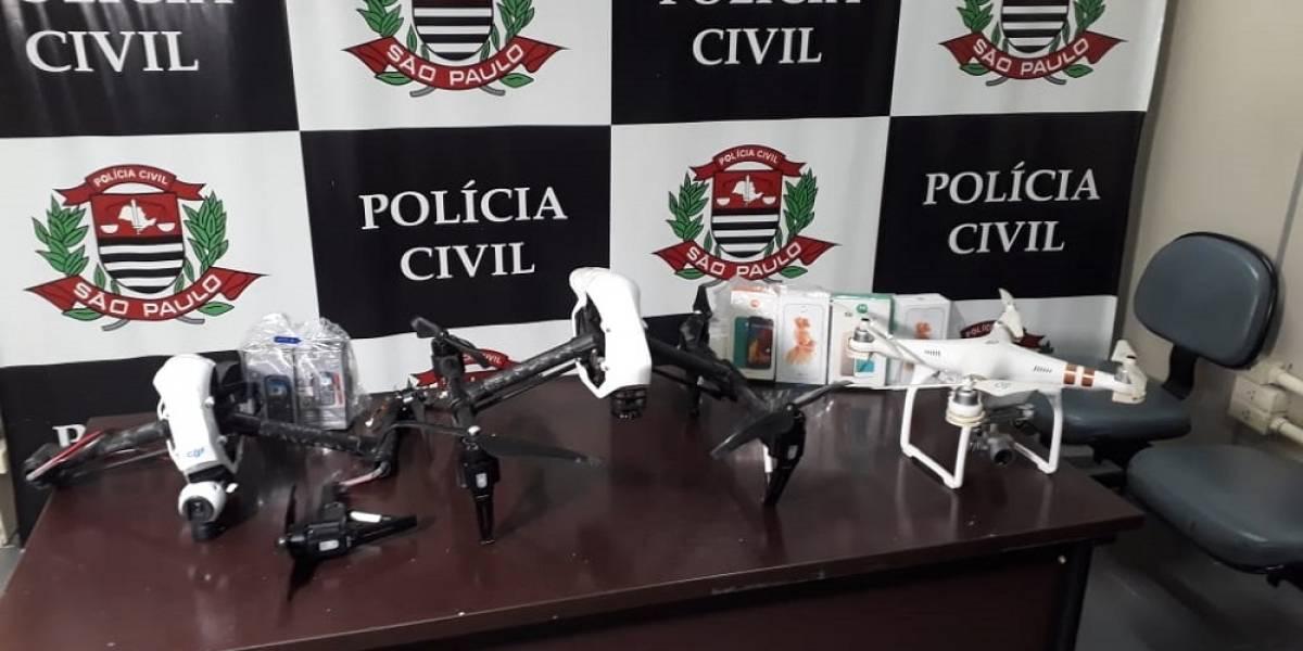 Quadrilha usava drones para levar drogas e celulares a prisioneiros; 20 são presos