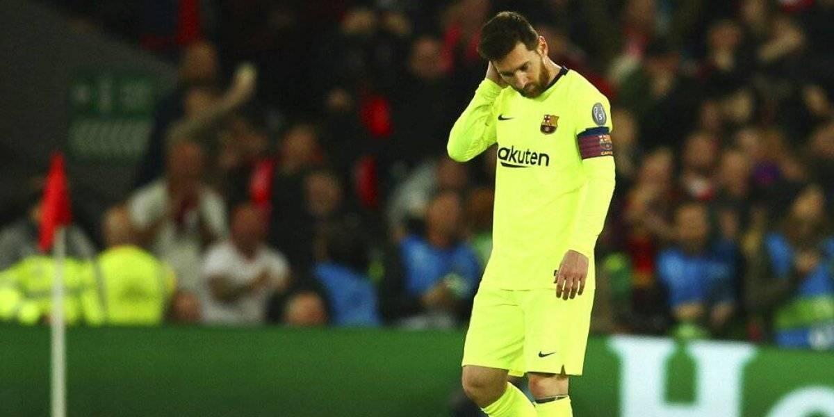 Messi explotó en lágrimas en el camarín tras la horrible eliminación del Barcelona ante Liverpool