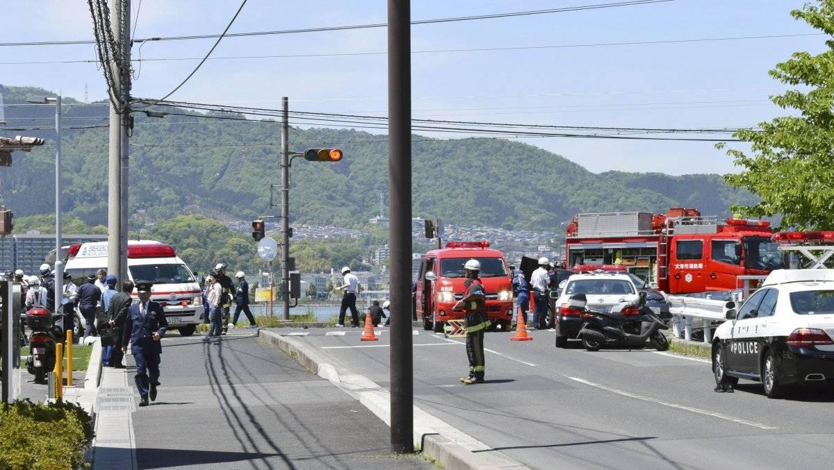 Escenas del atropellamiento masivo en Japón