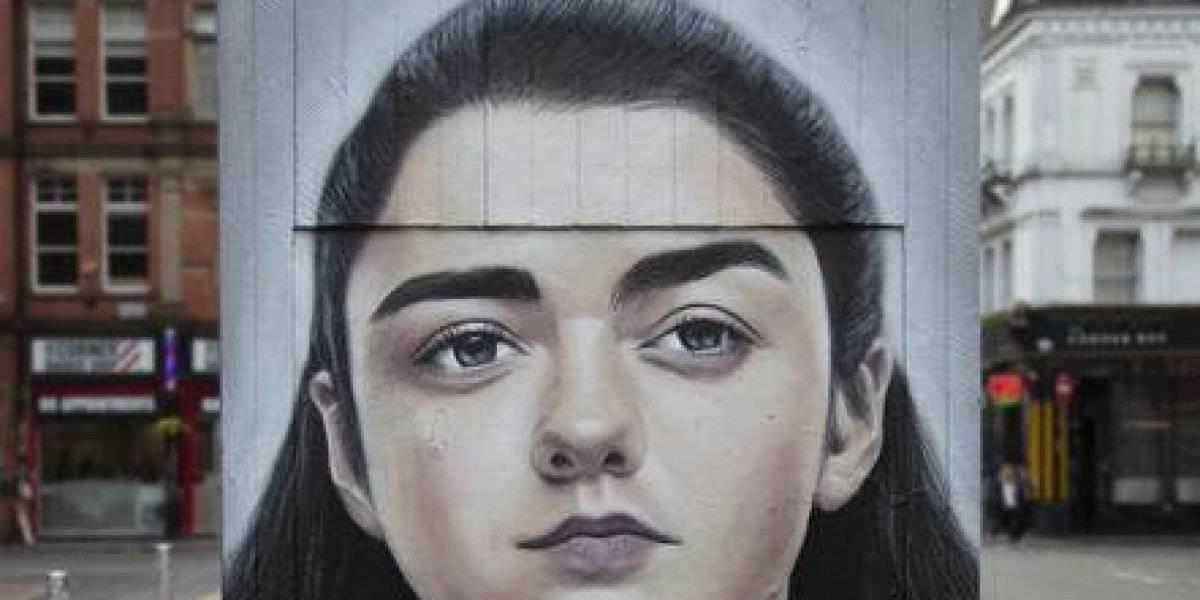 Un homenaje callejero a Arya Stark