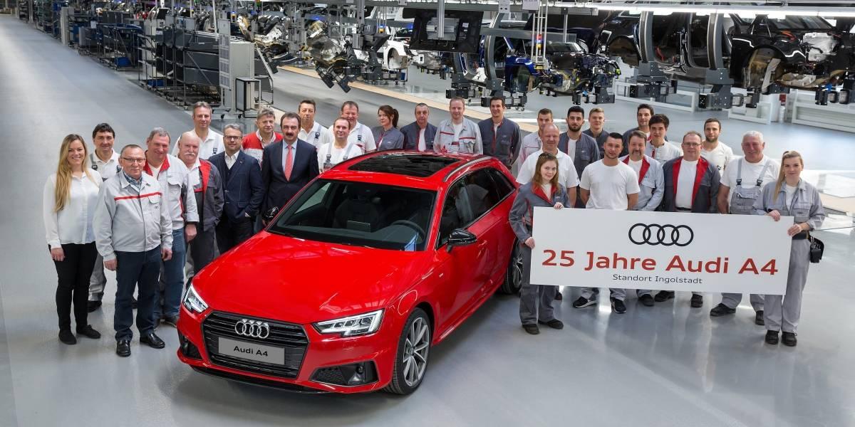 Cumpleaños de plata: el A4 de Audi celebra 25 años de vida