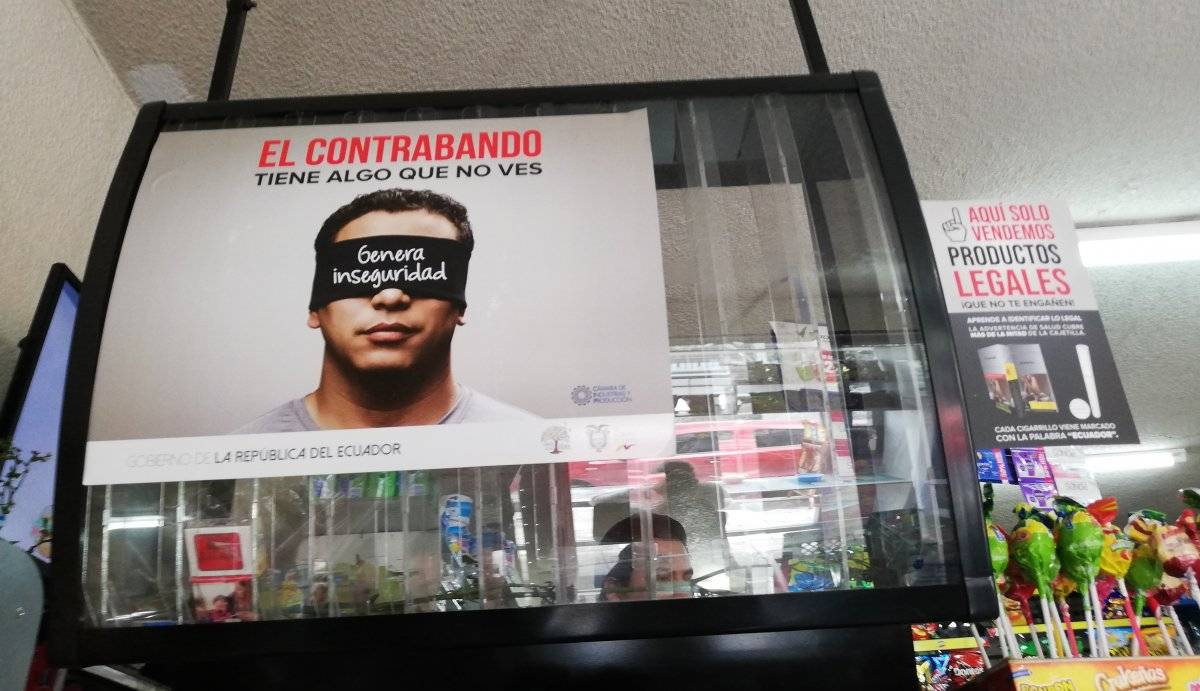 Venta de cigarrillos legales en Quito