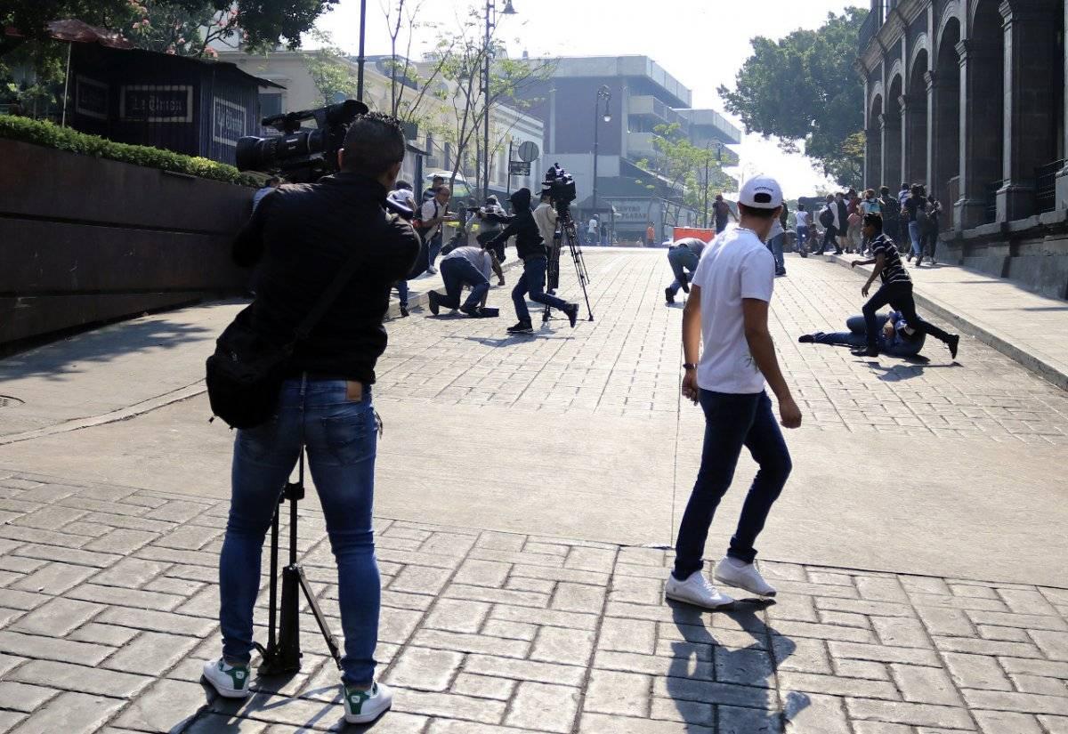 El agresor lanzó tiros en contra de manifestantes y periodistas. Foto: Cuartoscuro