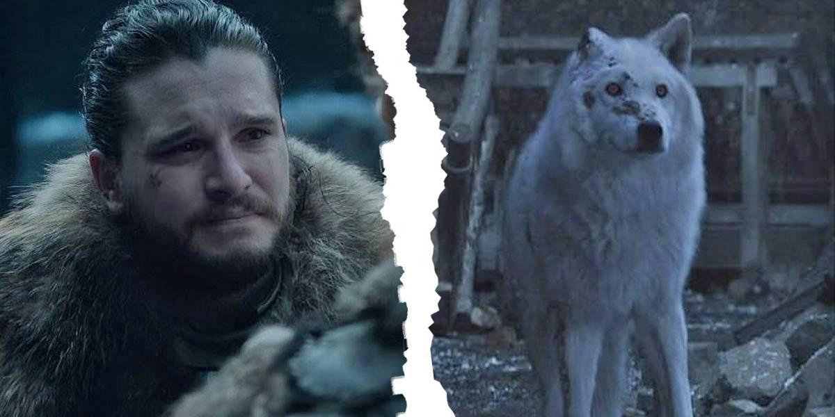 """Esta es la verdadera y frívola razón por la que Jon Snow no se despidió de Ghost en """"Game of Thrones"""""""
