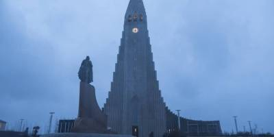 Iglesia Hallgrímskirkja en Reykjavík, Islandia