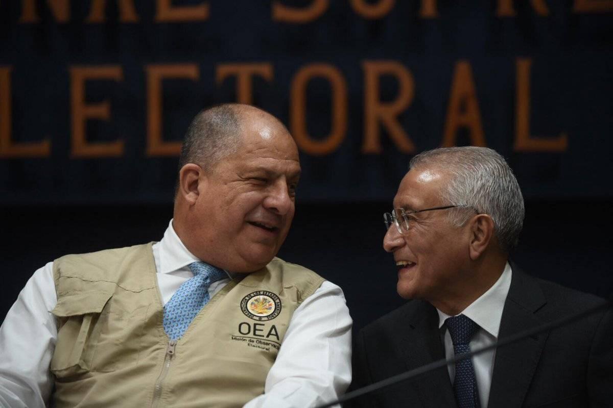 Luis Guillermo Solís y Julio Solórzano