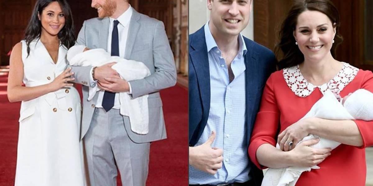 Meghan Markle y Kate Middleton: Estas fueron las diferencias entre la presentación de sus bebés