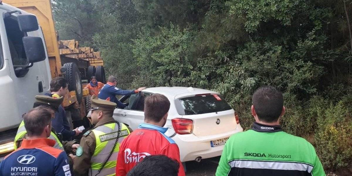 Multicampeón Sébastien Loeb chocó en la previa a la fecha del Mundial de Rally de Concepción
