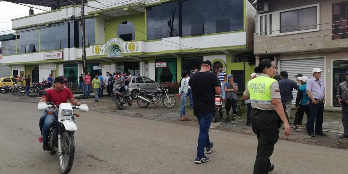Bolívar: Cruce de balas en intento de asalto a cooperativa de ahorro y crédito en Caluma