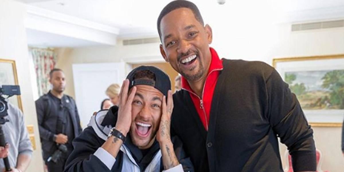 Reação de Neymar ao conhecer Will Smith representa qualquer fã; veja vídeos