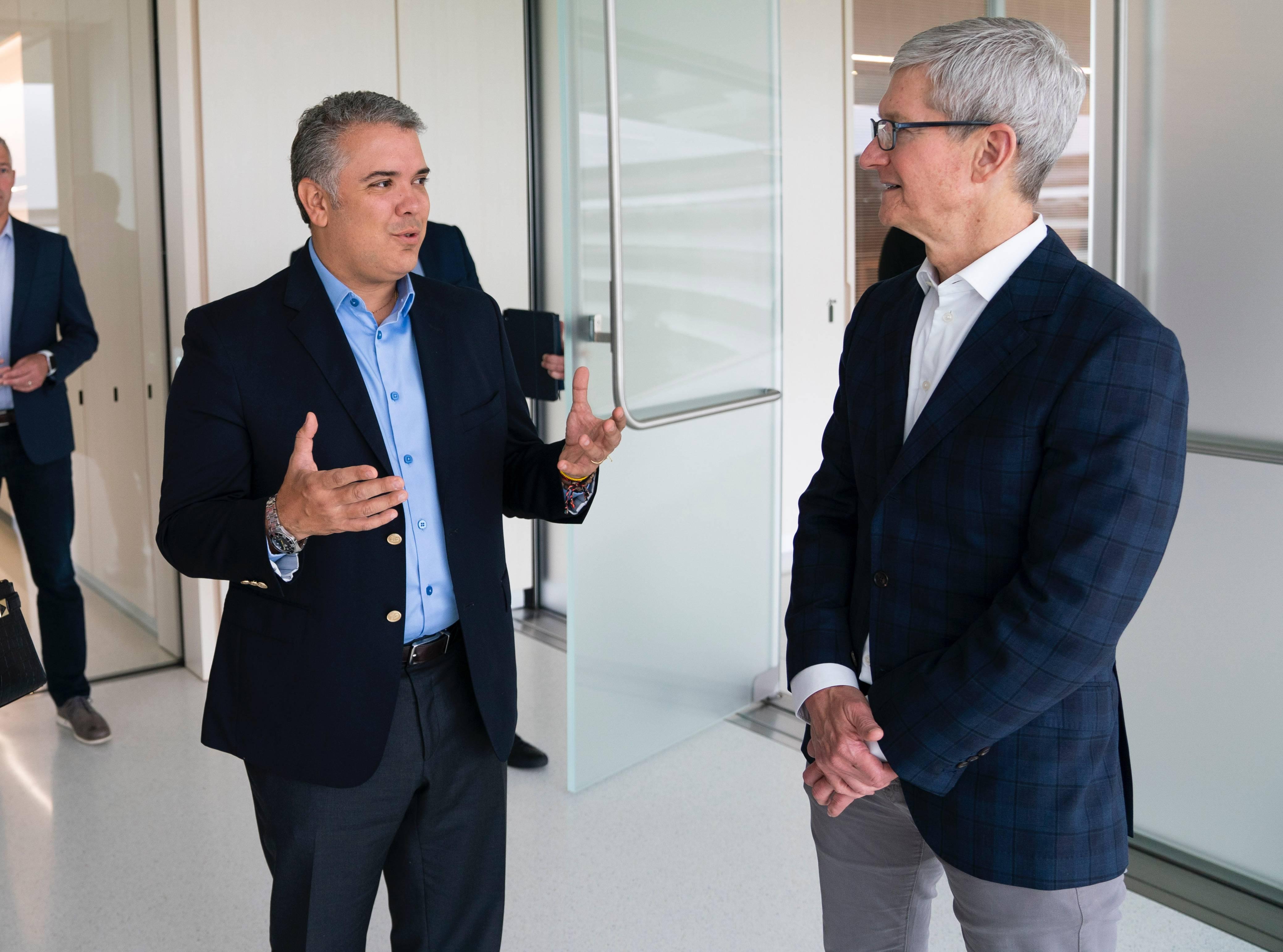 El presidente Iván Duque visitó Silicon Valley y se reunió con compañías como Apple y Google