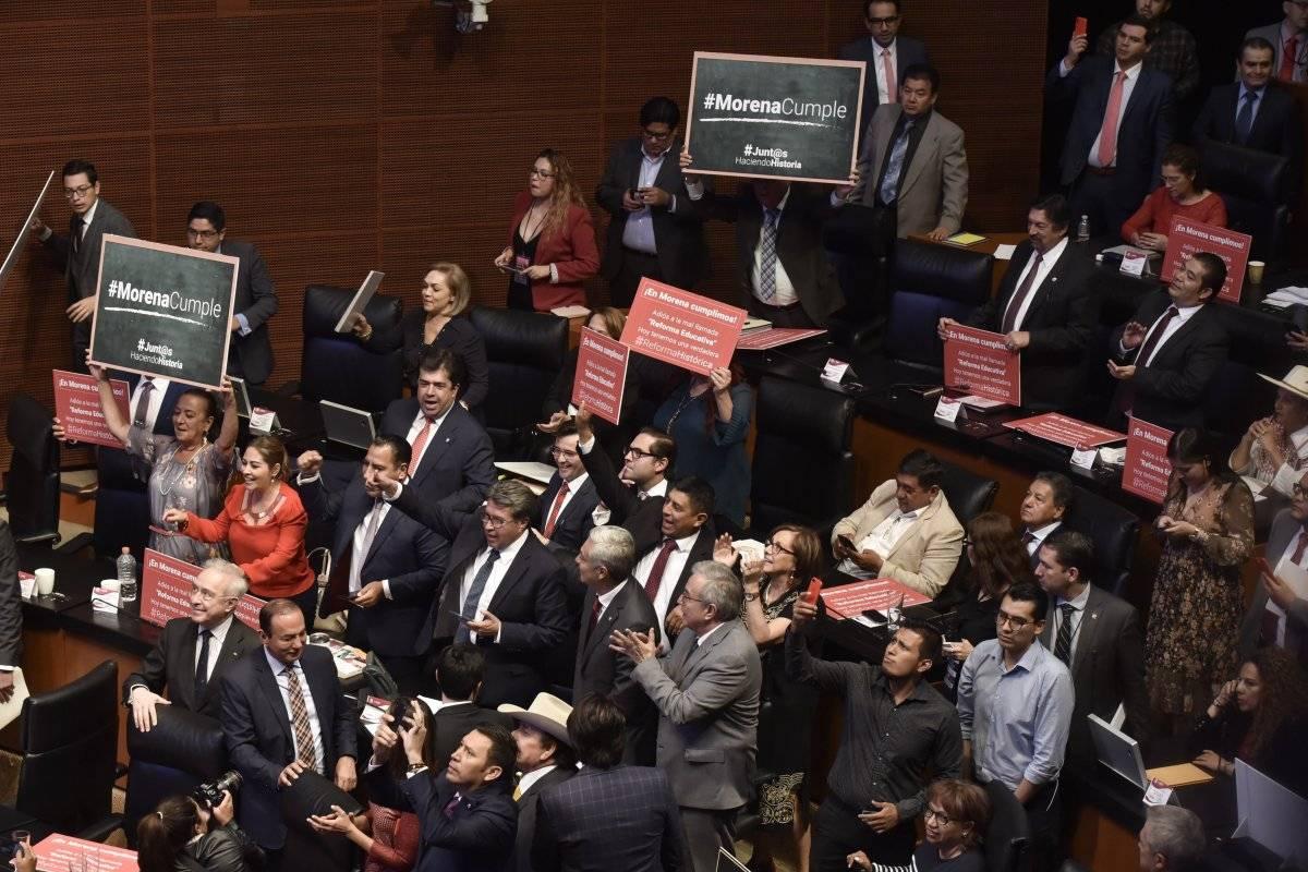 La semana pasada fue aprobada la Reforma Educativa en el Senado. Foto: Cuartoscuro.