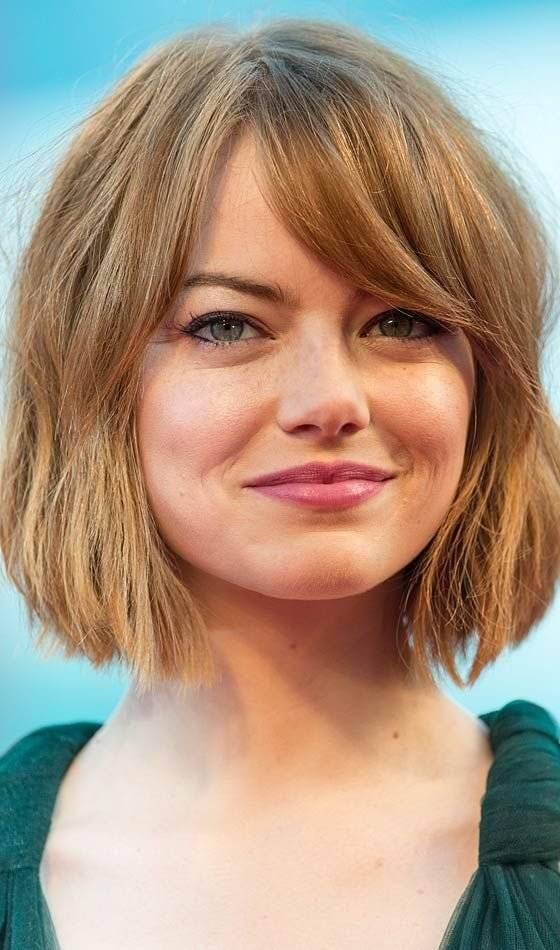 cabello corto para cara redonda